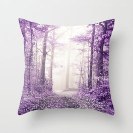 Take me home where I belong (deep purple forest) Throw Pillow