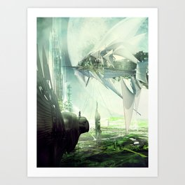 Waiting for the last launch Art Print