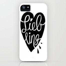 Liebling Calligraphy - White iPhone Case