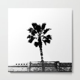Black & White Palm Metal Print
