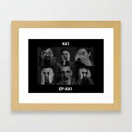 KA1 rock band Framed Art Print