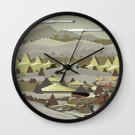 A Bronze Age Landscape Wall Clock
