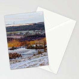 Consett frozen pond Stationery Cards