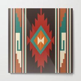 American Native Pattern No. 53 Metal Print