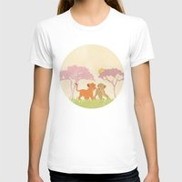 lions T-shirts featuring two lions..  by studiomarshallarts