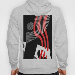 Black and white meets red Version 30 Hoody
