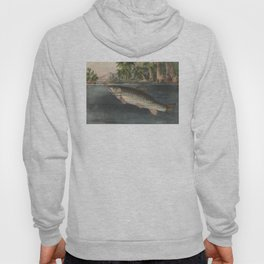 Vintage River Fishing Illustration (1874) Hoody