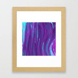 Pink, Purple, and Blue Waves 2 Framed Art Print