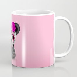 Pink Day of the Dead Sugar Skull Panda Coffee Mug