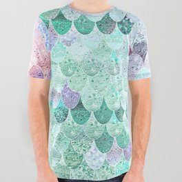 SUMMER MERMAID - CORAL MINT All Over Graphic Tee