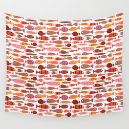 School of tropical fish pattern Wall Tapestry