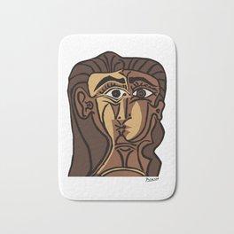 Pablo Picasso, Tete de Femme (Head Of A Woman) 1962 Artwork Reproduction Bath Mat