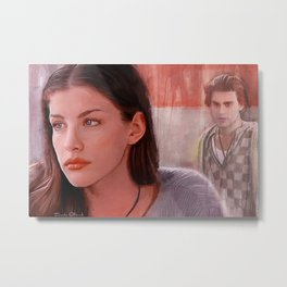 Painting Illustration Of Corey From The Cult Classic Film Empire Records Metal Print