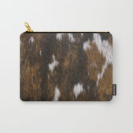 Rustic Cowhide Spots Carry-All Pouch