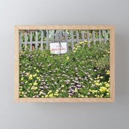 No Trespassing Framed Mini Art Print
