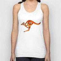kangaroo Tank Tops featuring Kangaroo by Knot Your World
