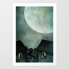 A Full Moon Night Art Print
