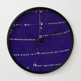 Pearls on a string Wall Clock