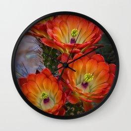 Brilliant Orange Wall Clock