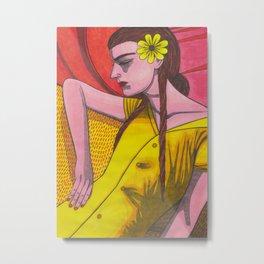 Forsythia Levolor Metal Print