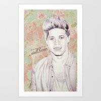 niall horan Art Prints featuring Niall Horan by vanessa