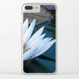 White Water Lilly Clear iPhone Case