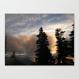 Camping on the side of Mt. Hood ~7000 ft. Canvas Print