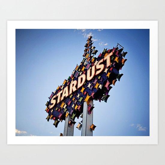 Vintage Stardust Sign, Las Vegas Art Print