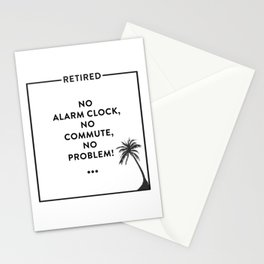 Retirement Funny Retired Design For Retirees Stationery Cards
