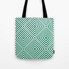 Emerald Elegant Diamond Chevron Tote Bag