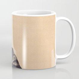 "Egon Schiele ""Selbstbildnis als Halbakt in schwarzer Jacke (Self-portrait in a black jack)"" Coffee Mug"