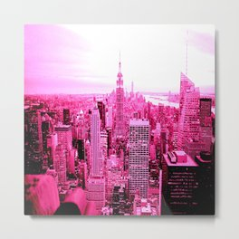New York City Pink Metal Print