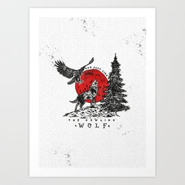 The Howling Wolf Art Print