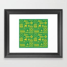 Run Upstate Framed Art Print