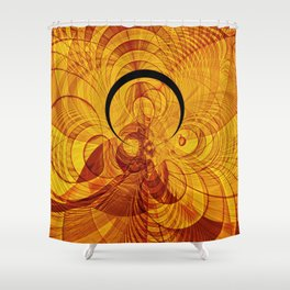 Loop and stripe fractal world Shower Curtain