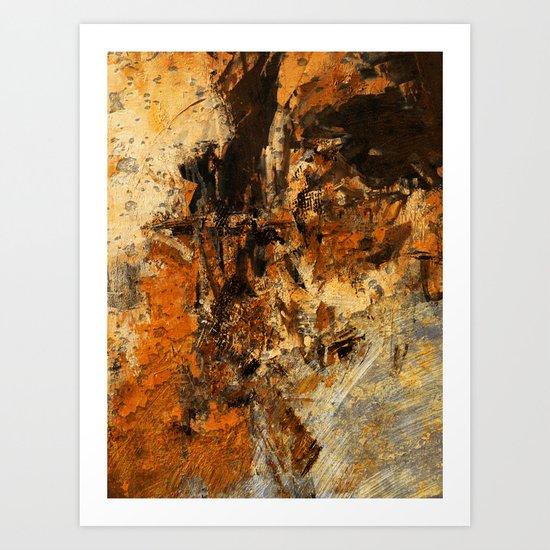 Ocher Wall Art Print