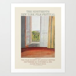 David Hockney. Poster for The 19th New York Film Festival, 1981. Art Print