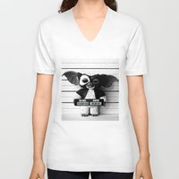gizmo V-neck T-shirts featuring Gizmo lineup by Christophe Chiozzi