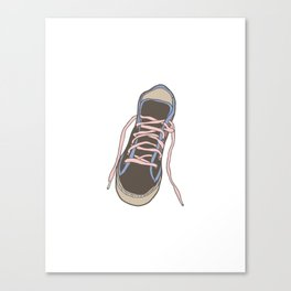 Trainer / Sneaker Illustration Canvas Print