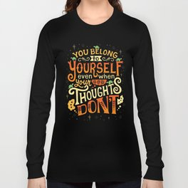 Thoughts are only thoughts Long Sleeve T-shirt