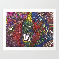 Things are getting weird Art Print