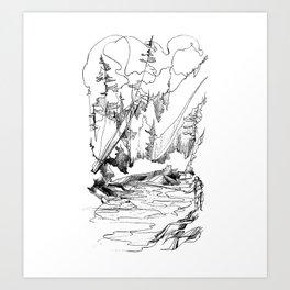 Drawing the Line Art Print