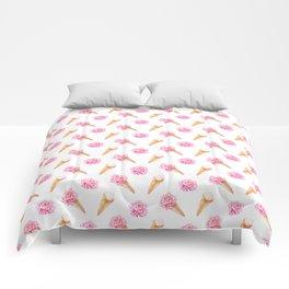 Floral Cones Pattern Comforters