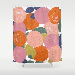Flowers In Full Bloom Shower Curtain