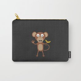 monkey with banana Carry-All Pouch