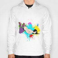 yoga Hoodies featuring Yoga by Don Kuing