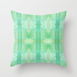 Moss Leaves Throw Pillow