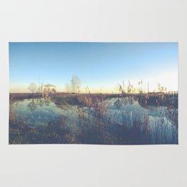 A river landscape (double exposure) Rug