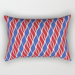 Patriotic Red, White and Blue Stripes Rectangular Pillow