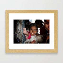 Indian Girl Framed Art Print